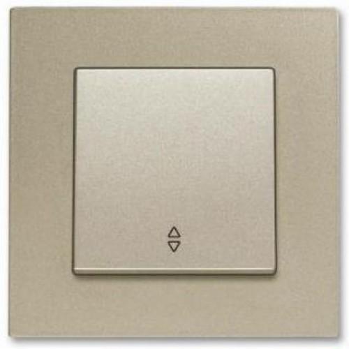 Выключатель 1-кл проходной (без рамки) бронза Viko Novella (92105204)
