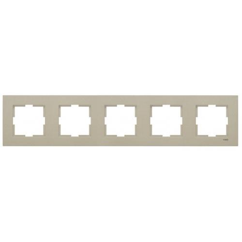 Рамка*5 универсальная бронза Viko Novella (92190625)