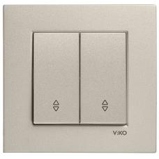 Выключатель 2-кл проходной (без рамки) бронза