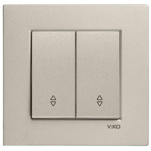 Выключатель 2-кл проходной (без рамки) бронза Viko Novella (92105217)