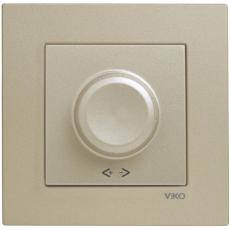 Выключатель-диммер (без рамки) бронза