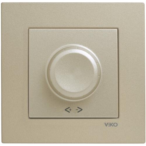 Выключатель-диммер (без рамки) бронза  Viko Novella (92105220)