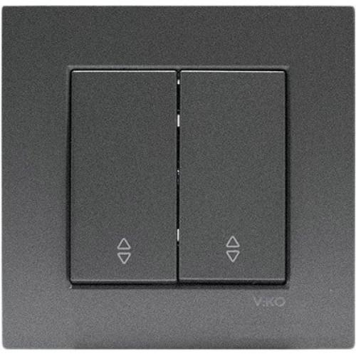 Выключатель 2-кл проходной (без рамки) дымчатый Viko Novella (92105417)
