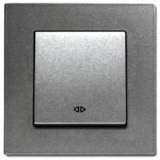 Выключатель 1-кл промежуточный (без рамки) дымчатый