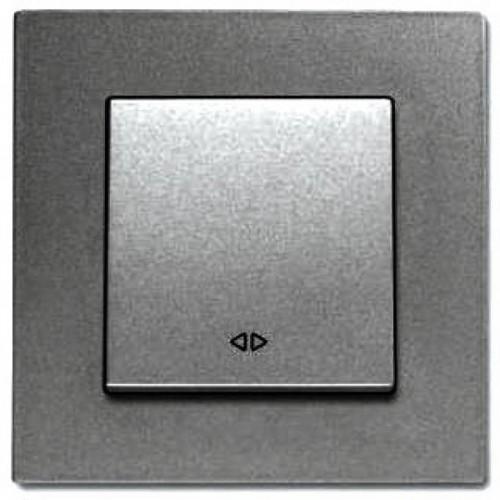 Выключатель 1-кл промежуточный (без рамки) дымчатый Viko Novella (92105431)
