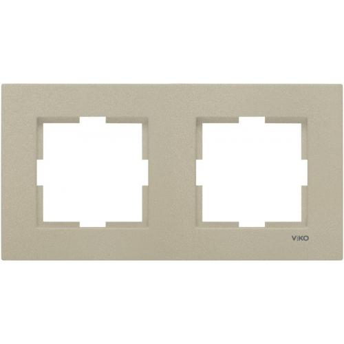 Рамка*2 универсальная бронза Viko Novella (92190622)
