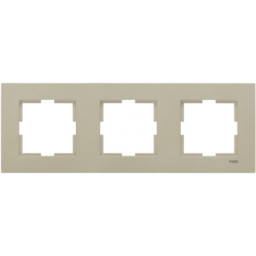 Рамка*3 универсальная бронза Viko Novella (92190623)