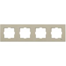 Рамка*4 универсальная бронза