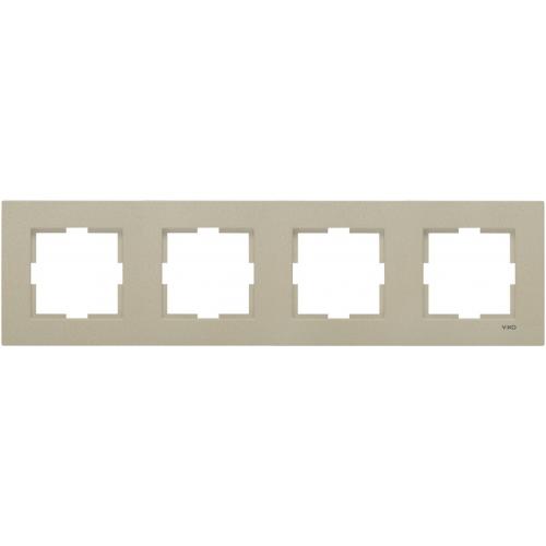 Рамка*4 универсальная бронза Viko Novella (92190624)