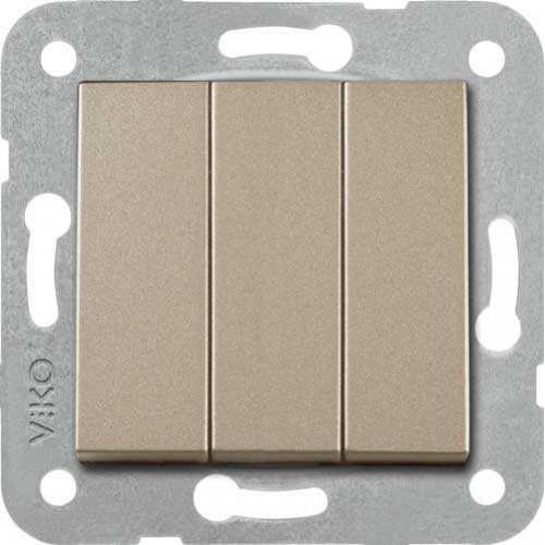 Выключатель 3-кл (без рамки) бронза Viko Novella (92105268)
