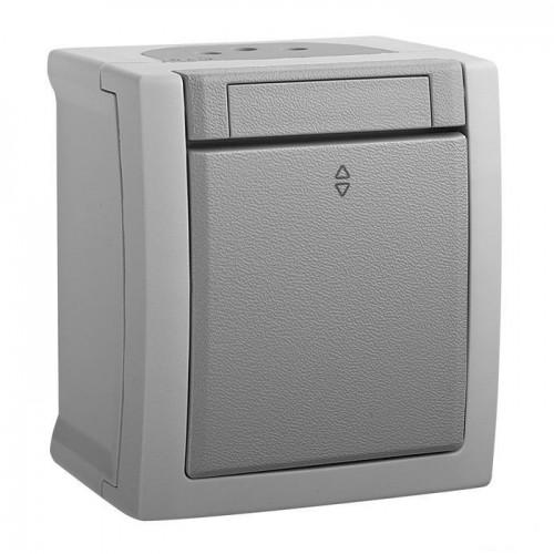 Выключатель 1-кл  проходной серый наружный Panasonic Pacific (WPTC40032GR-BY)