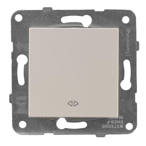 Выключатель 1-кл перекрестный кремовый Panasonic Arkedia Slim (WKTT00052BG-BY)