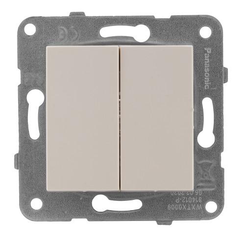 Выключатель 2-кл кремовый Panasonic Arkedia Slim (WKTT00092BG-BY)