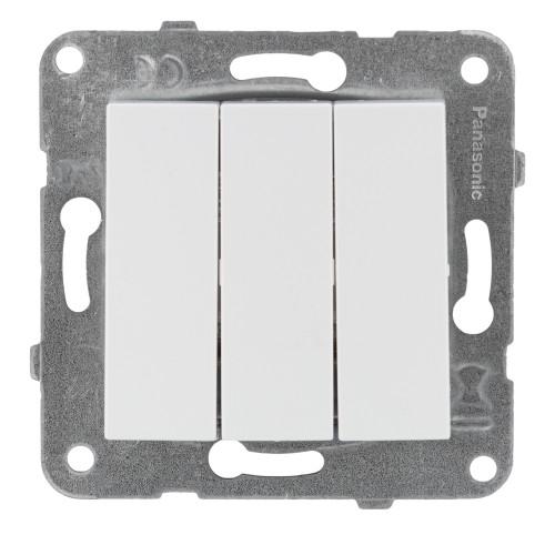 Выключатель 3-кл белый Panasonic Arkedia Slim (WKTT00152WH-BY)
