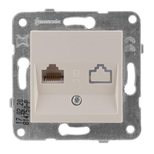 Розетка компьютерная кремовая Panasonic Arkedia Slim (WKTT04042BG-BY)