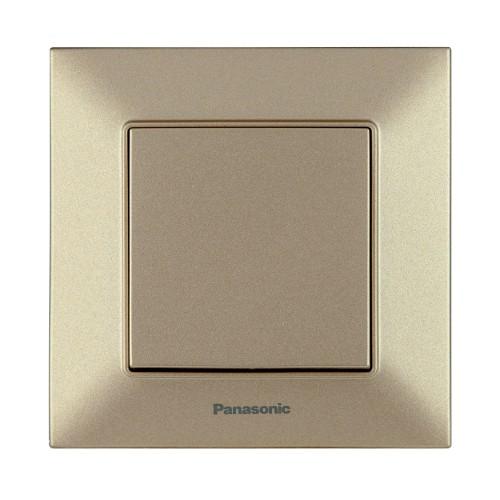 Выключатель 1-кл бронзовый Panasonic Arkedia Slim (WNTC00012BR-BY)