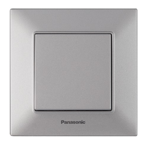 Выключатель 1-кл серебристый Panasonic Arkedia Slim (WNTC00012SL-BY)