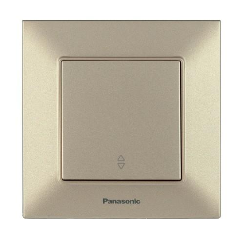 Выключатель 1-кл проходной бронзовый Panasonic Arkedia Slim (WNTC00032BR-BY)