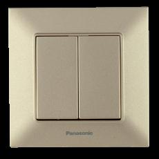 Выключатель 2-кл бронзовый