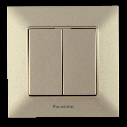 Выключатель 2-кл бронзовый Panasonic Arkedia Slim (WNTC00092BR-BY)