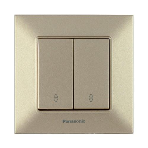 Выключатель 2-кл проходной бронзовый Panasonic Arkedia Slim (WNTC00112BR-BY)