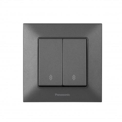 Выключатель 2-кл проходной дымчатый Panasonic Arkedia Slim (WNTC00112DG-BY)