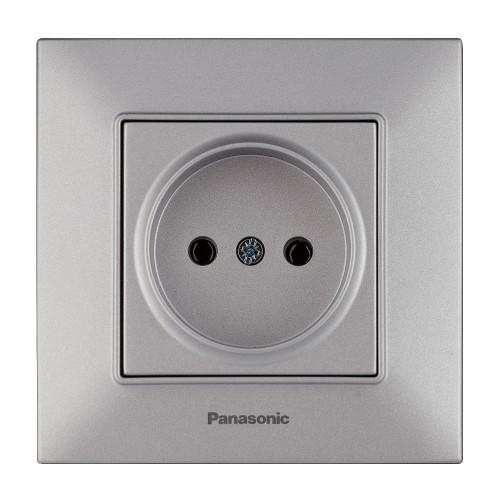 Розетка серебристая Panasonic Arkedia Slim (WNTC02012SL-BY)
