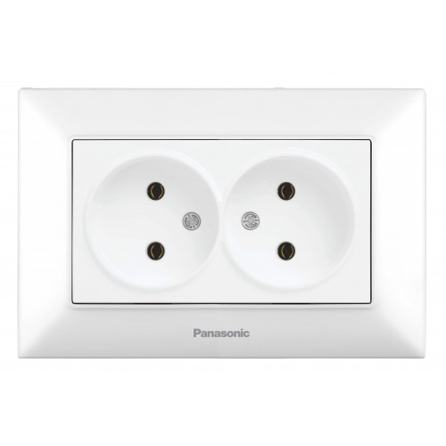 Двойная розетка белая Panasonic Arkedia Slim (WNTC02042WH-BY)