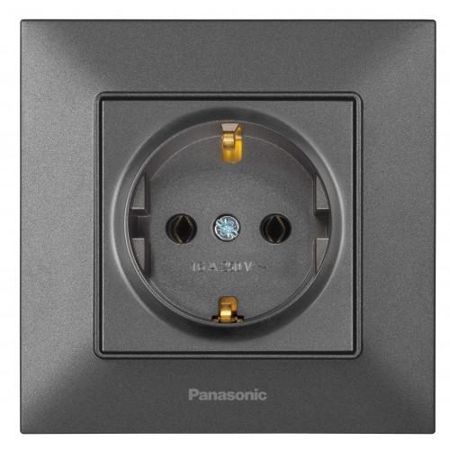 Розетка с/з дымчатая Panasonic Arkedia Slim (WNTC03022DG-BY)