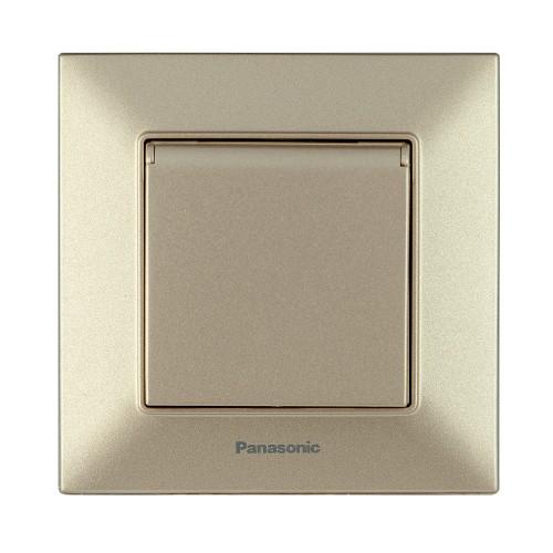 Розетка с крышкой бронзовая Panasonic Arkedia Slim (WNTC03102BR-BY)