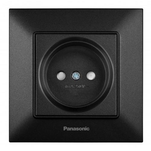 Розетка з/ш черная Panasonic Arkedia Slim (WNTC03112BL-BY)