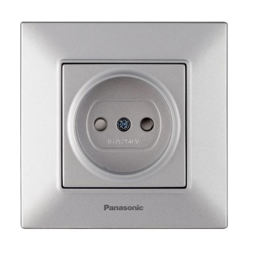 Розетка з/ш серебристая Panasonic Arkedia Slim (WNTC03112SL-BY)