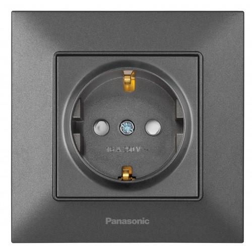 Розетка с/з з/ш дымчатая Panasonic Arkedia Slim (WNTC03122DG-BY)