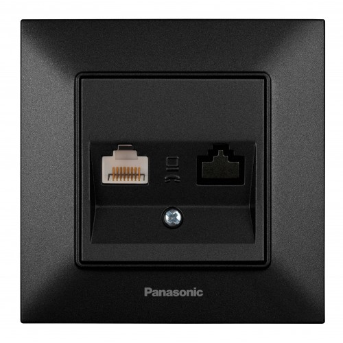 Розетка компьютерная черная Panasonic Arkedia Slim (WNTC04042BL-BY)