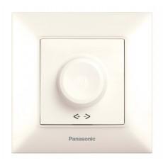 Выключатель-диммер кремовый 6-100W