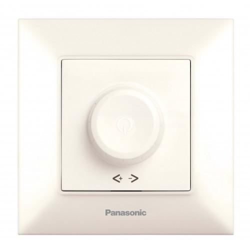 Выключатель-диммер кремовый 6-100W Panasonic Arkedia Slim (WNTC05202BG-BY)