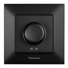 Выключатель-диммер черный 6-100W