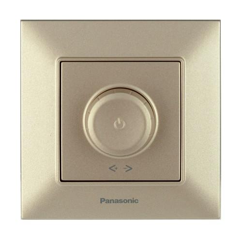 Выключатель-диммер бронзовый 6-100W Panasonic Arkedia Slim (WNTC05202BR-BY)