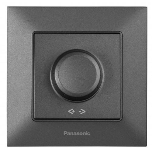 Выключатель-диммер дымчатый 6-100W Panasonic Arkedia Slim (WNTC05202DG-BY)