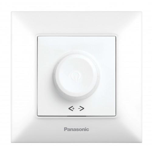 Выключатель-диммер белый 6-100W Panasonic Arkedia Slim (WNTC05202WH-BY)