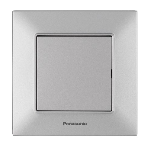 Заглушка лицевой панели серебристая Panasonic Arkedia Slim (WNTC07012SL-BY)