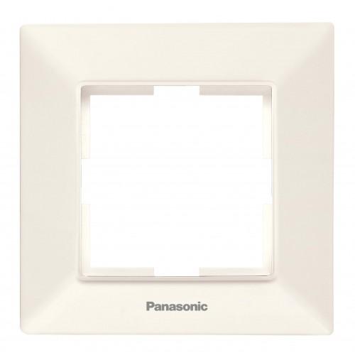 Рамка*1 кремовая Panasonic Arkedia Slim (WNTF08012BG-BY)