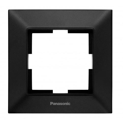 Рамка*1 черная Panasonic Arkedia Slim (WNTF08012BL-BY)