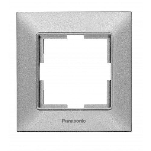 Рамка*1 серебристая Panasonic Arkedia Slim (WNTF08012SL-BY)