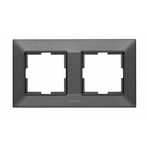 Рамка*2 универсальная дымчатая Panasonic Arkedia Slim (WNTF08022DG-BY)