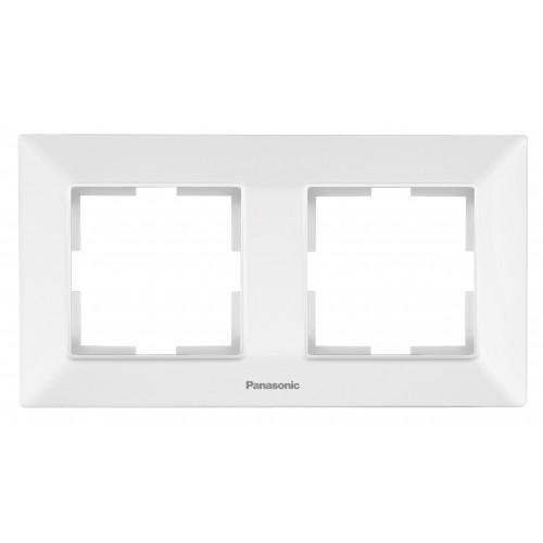 Рамка*2 универсальная белая Panasonic Arkedia Slim (WNTF08022WH-BY)
