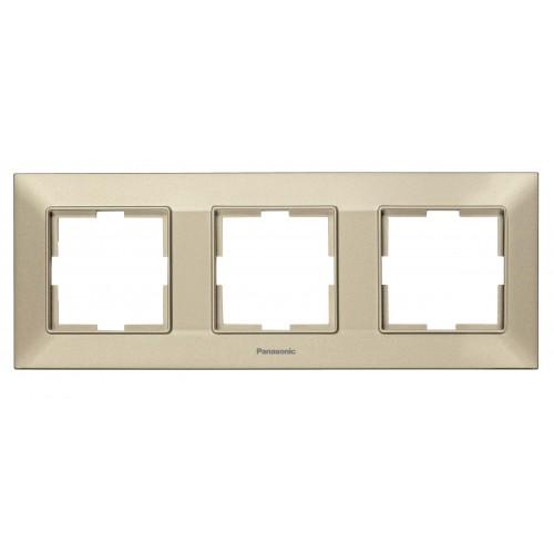 Рамка*3 универсальная бронзовая Panasonic Arkedia Slim (WNTF08032BR-BY)