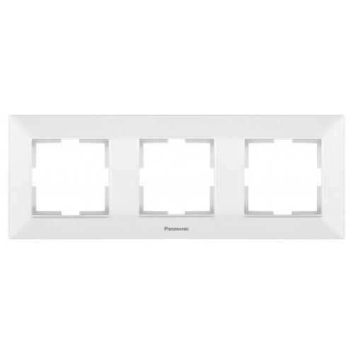 Рамка*3 универсальная белая Panasonic Arkedia Slim (WNTF08032WH-BY)