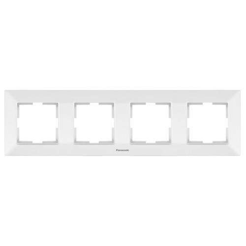 Рамка*4 универсальная белая Panasonic Arkedia Slim (WNTF08042WH-BY)