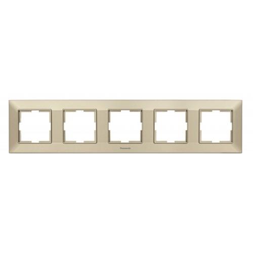 Рамка*5 универсальная бронзовая Panasonic Arkedia Slim (WNTF08052BR-BY)